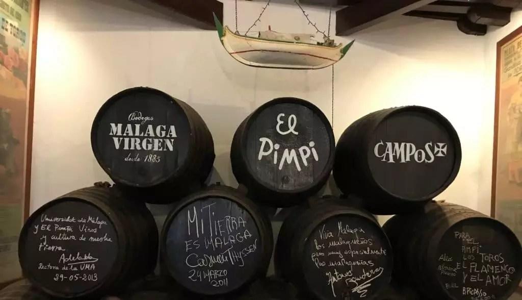Malaga- Bodega el pimpi Famille nomade digitale voyage en Andalousie