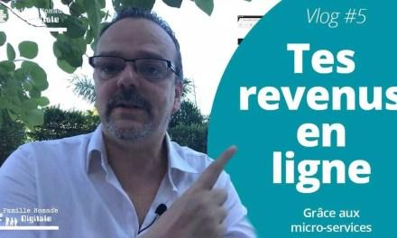 Tes Revenus En Ligne Grâce Aux Micro-Services – VLog Famille Nomade Digitale #5