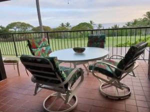 Vue du balcon logement à Kailua Kona famille nomade digitale