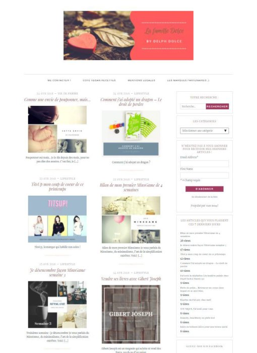 page accueil du blog par designs canva
