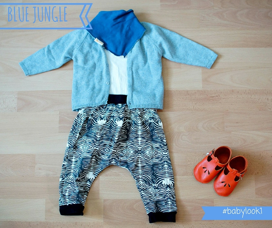 salomes oranges BABY LOOK #1 blue jungle