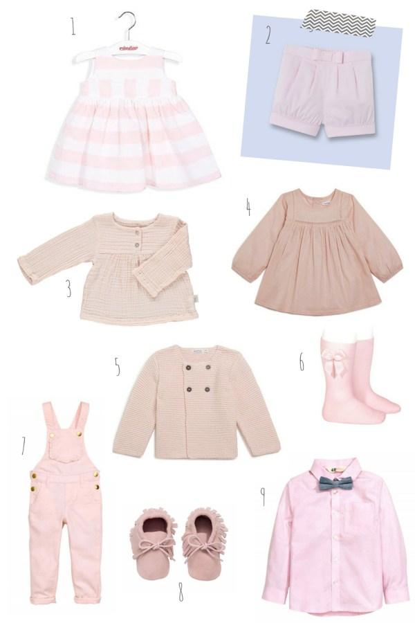 pastel pour bébé rose clair