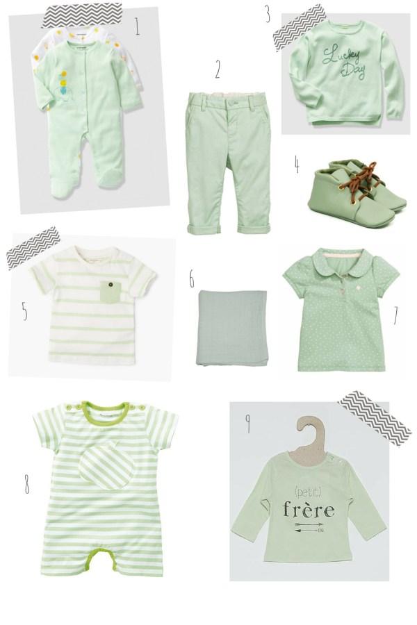 pastel pour bébé vert tendre