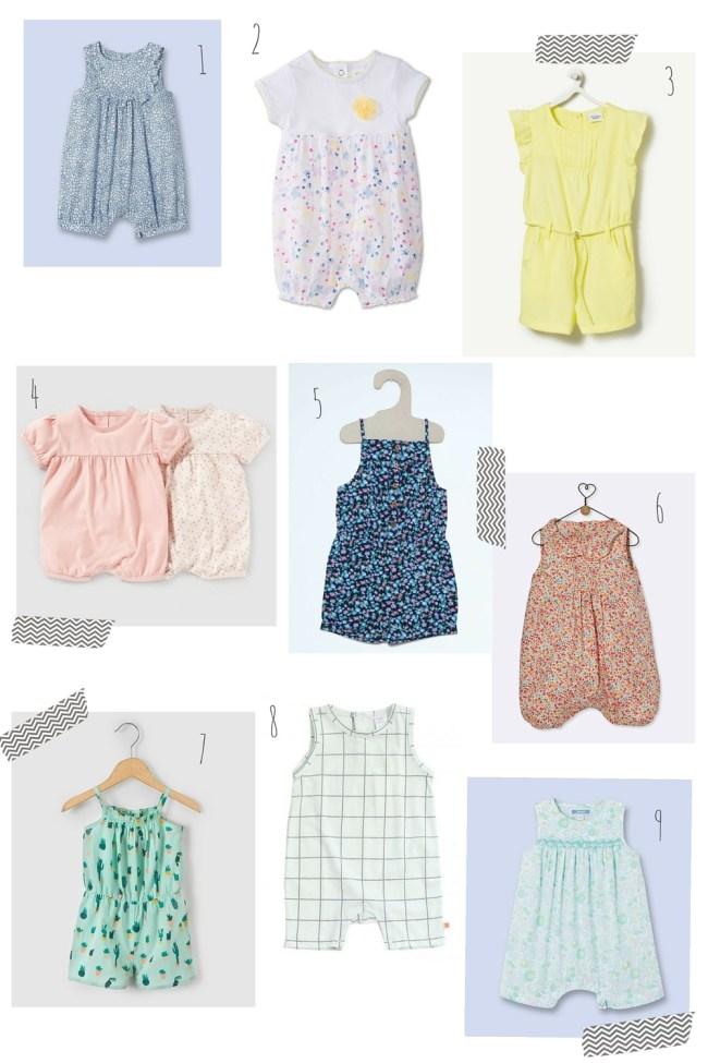 combinaison d'été pour bébé filles jacadi la redoute cyrillus kiabi tiny cottons