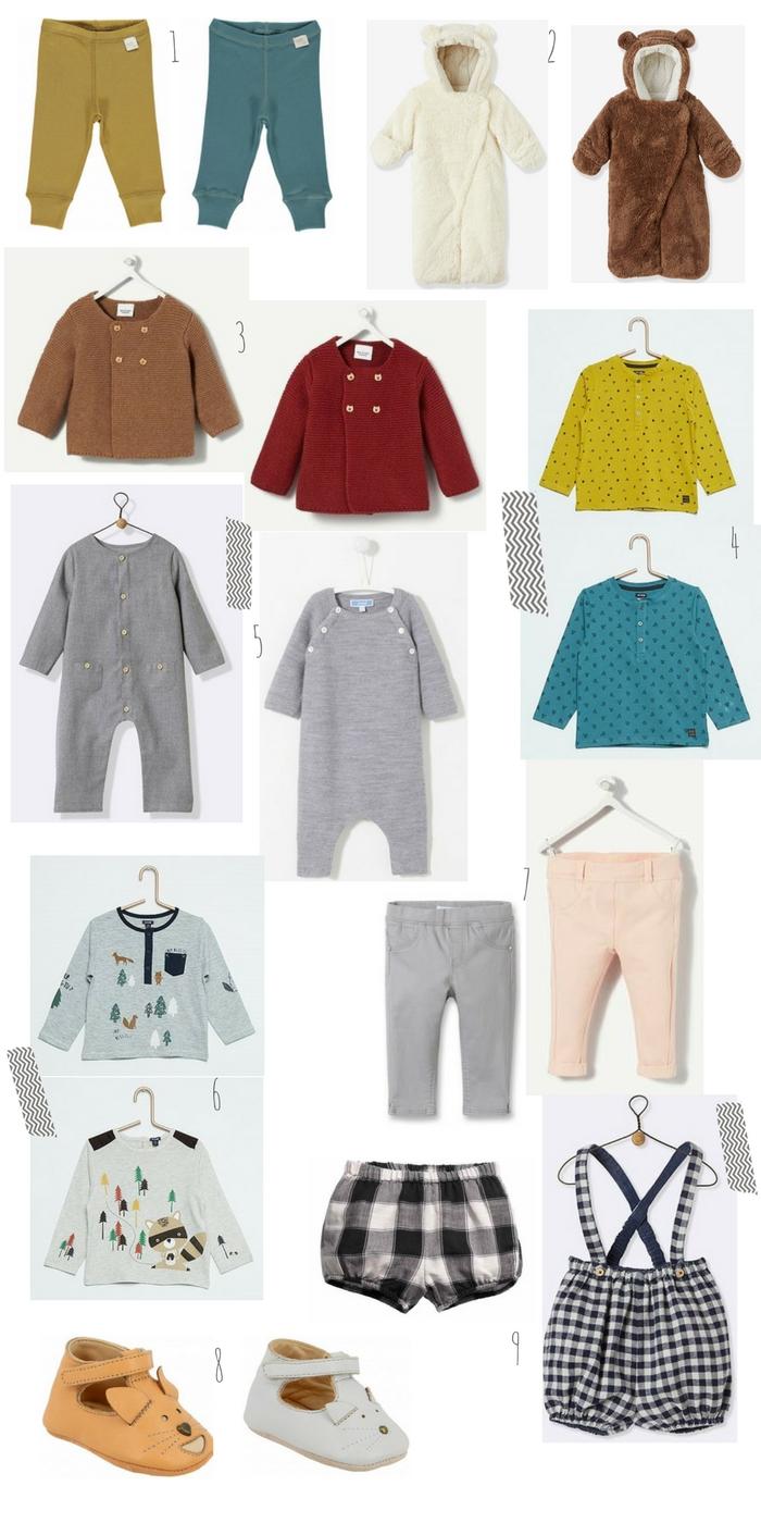 wishlist automne bébé selection