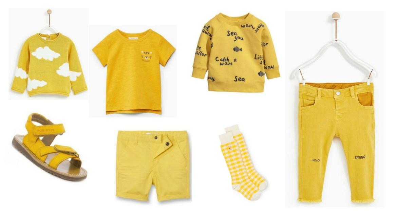 jaune dressing bébé mode