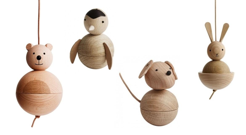 animaux en bois oyoy mobile