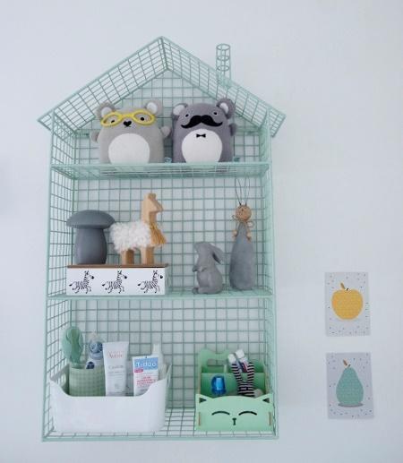 décoration chambre bébé jumeaux étagère maison du monde