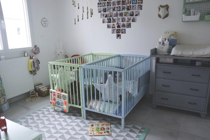 décoration chambre bébé pour jumeaux garçons