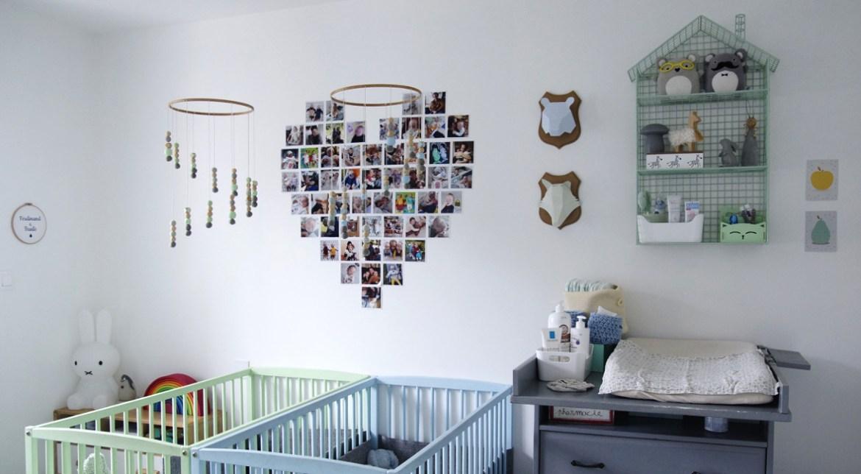 décoration chambre bébé pour jumeaux