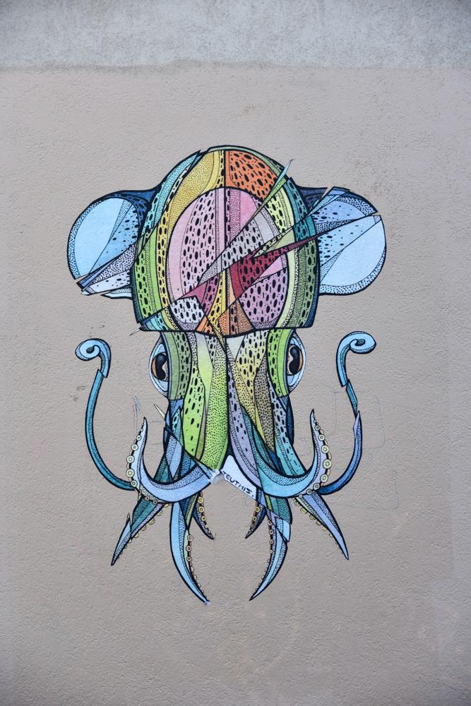 Pieuvre Street art