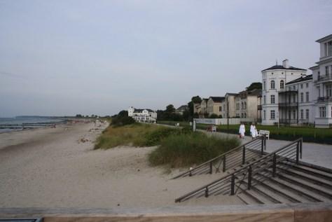 Heiligendamm Strand und weiße Häuser