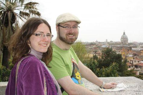 Zusammen in Rom und glücklich darüber: Stefan und ich.
