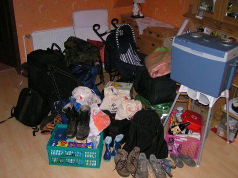 Reisen mit Kindern, Gepäck