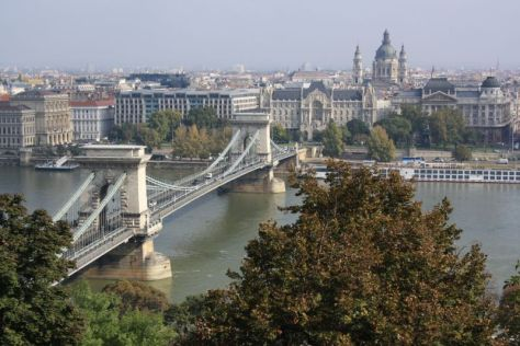 Ungarn, Budapest, Donau, Kettenbrücke