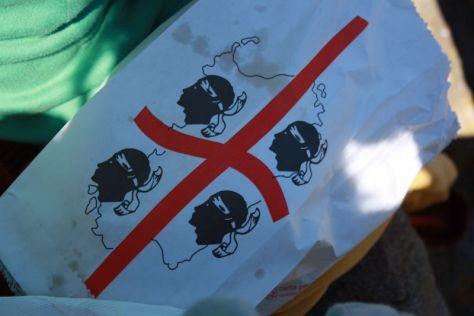 Flagge Sardinien auf Bäckertüte