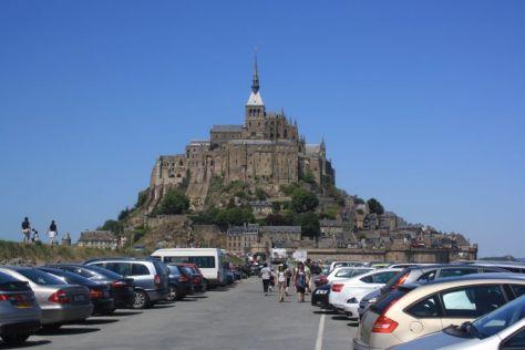 Mont Saint Michel, Frankreich, Parkplatz