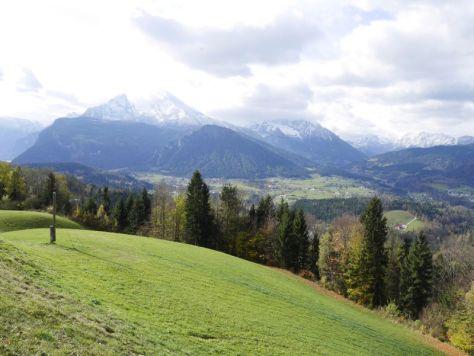 Blick auf den Watzmann vom Obersalzberg aus.