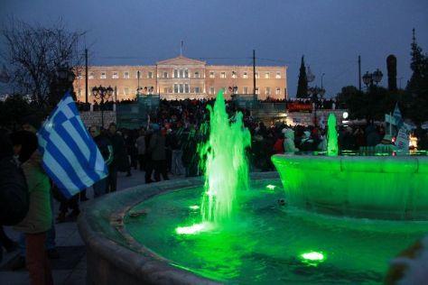 Anti Merkel Demo Athen, 2015