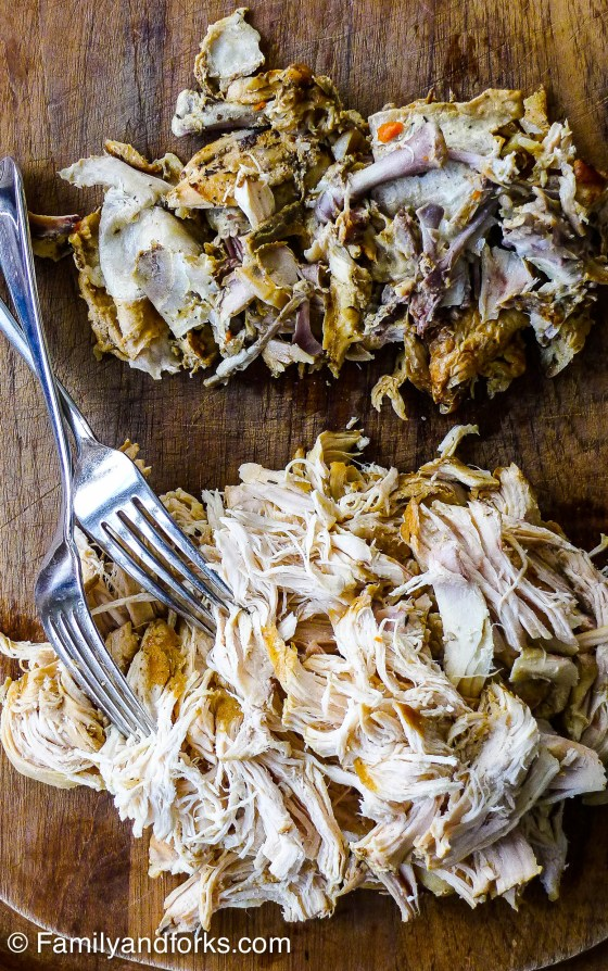 slow-cooked-garlic-chicken-pulled-remains