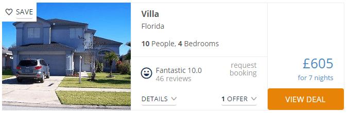 cheap florida villa price