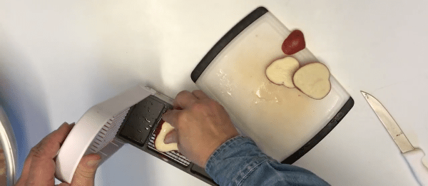 Chopping potatoes quickly for freeze drying