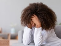 teen showing trauma