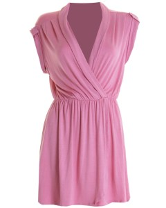 LOVE PINK JERSEY WRAP DRESS