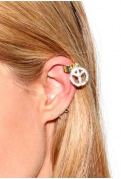 Macie Peace Ear Cuff