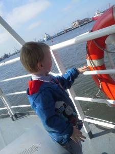 Jake on the Shields Ferry