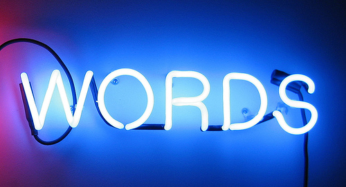 Family Clan Blog Neon words