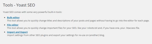 Yoast tools File editor Family Clan Blog