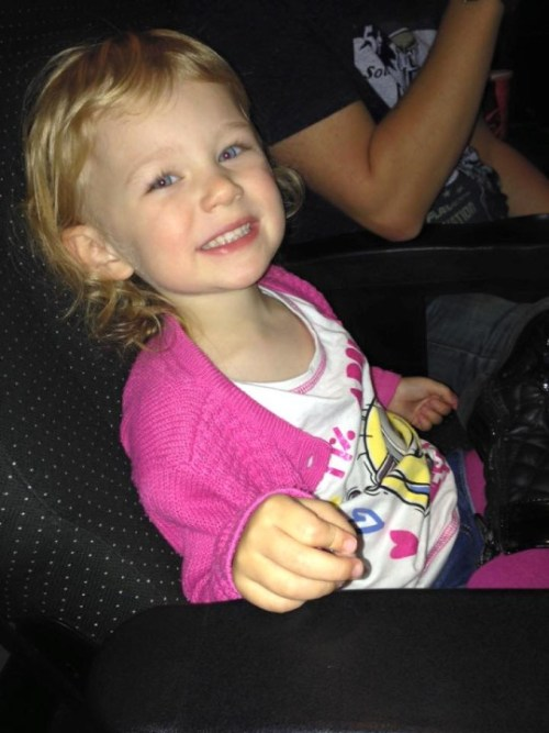 Olivia 1st Family trip to Cinema Family Clan Blog