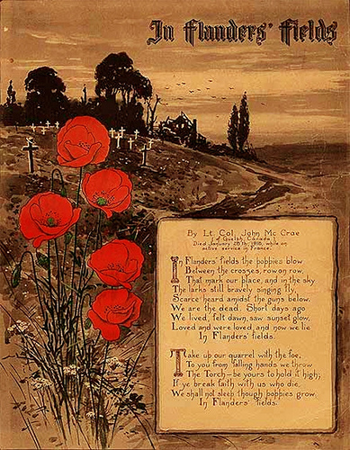 John McCrae Remembrance Sunday
