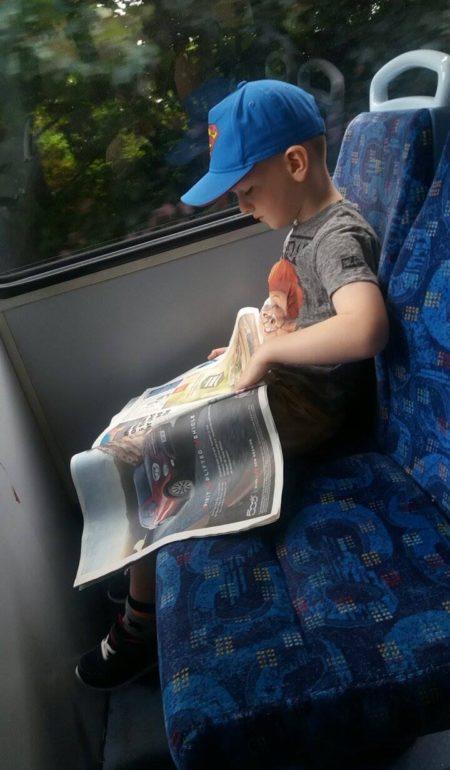 Sunday Snap Jake practising his reading Family Clan Blog