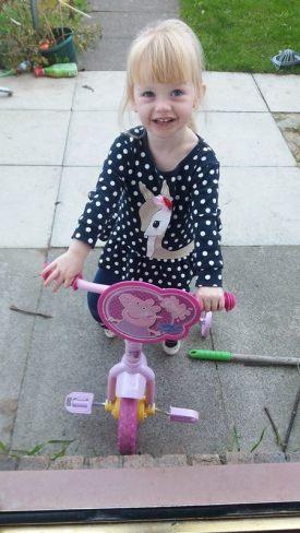 Grace's First Bike Ride Family Clan Blog
