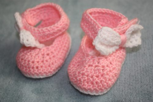 Crochet Baby Shoes with Bow Family Clan (4)