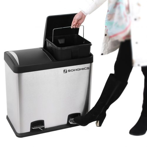 Songmics Dual Use Recycle Pedal Bin by Family Clan