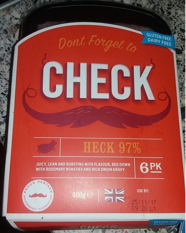 CHECK sausages HECK Movember cancer Family Clan