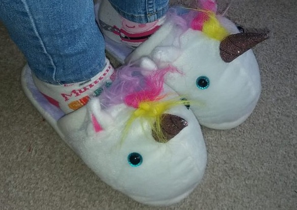 Find me a gift Unicorn Slippers Family Clan