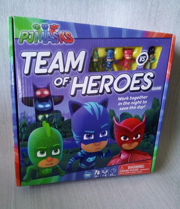 Ravensburger PJ Masks Team of Heroes Board Game review by Family Clan