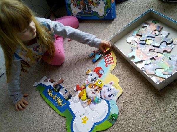 Paw Patrol Ravensburger giant floor puzzle review by Family Clan
