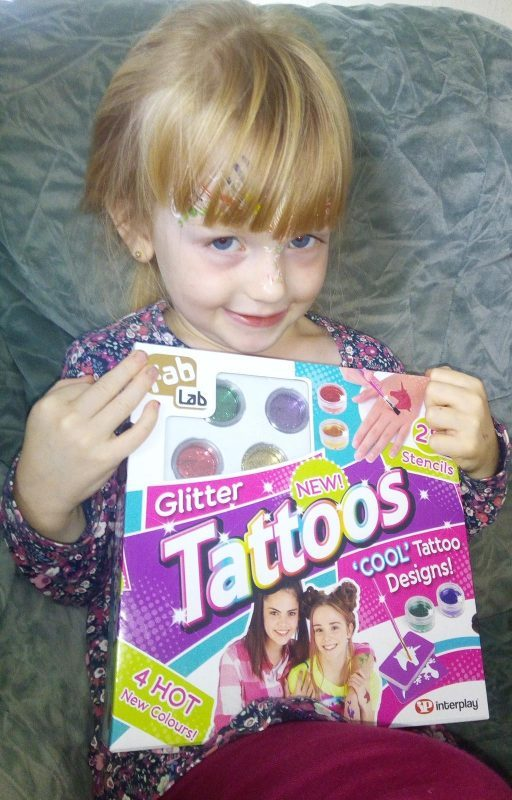Fab Lab Glitter Tattoos review by Family Clan 2