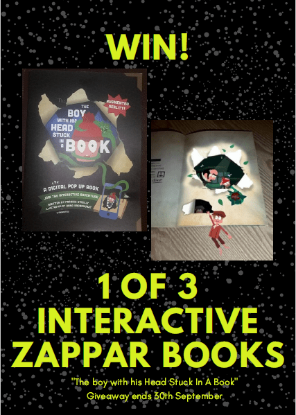 Win Interactive Zappar Book The Boy with His head Stuck In a Book Family Clan