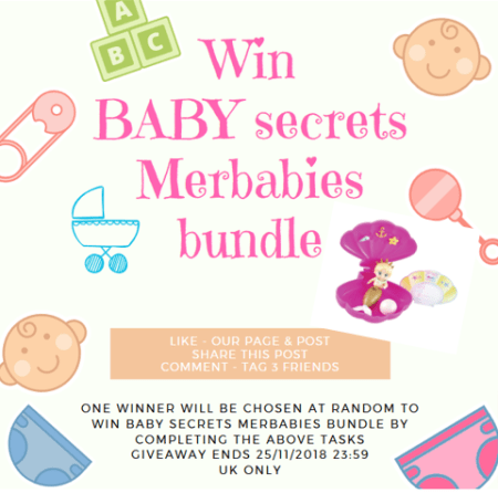 baby secrets social poster Facebook Giveaway Family Clan
