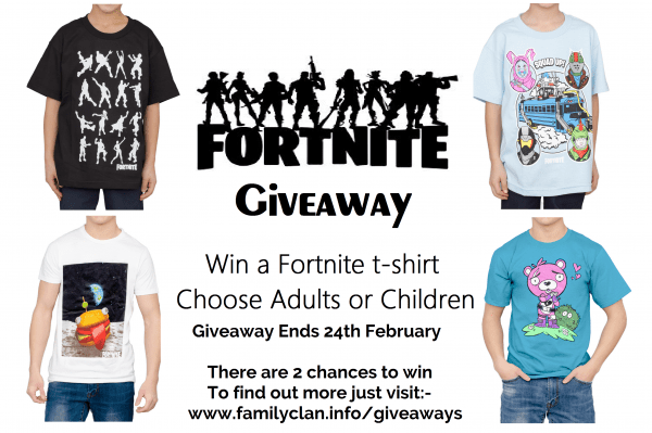 Fortnite t-shirt giveaway