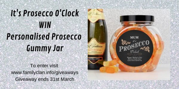 It's Prosecco O'Clock WIN Personalised Prosecco Gummy Jar Family Clan