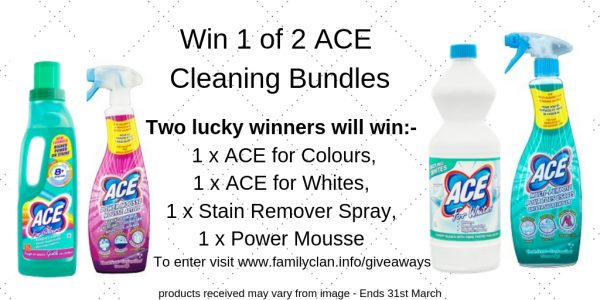 Win 1 of 2 ACE Cleaning Bundles Family Clan