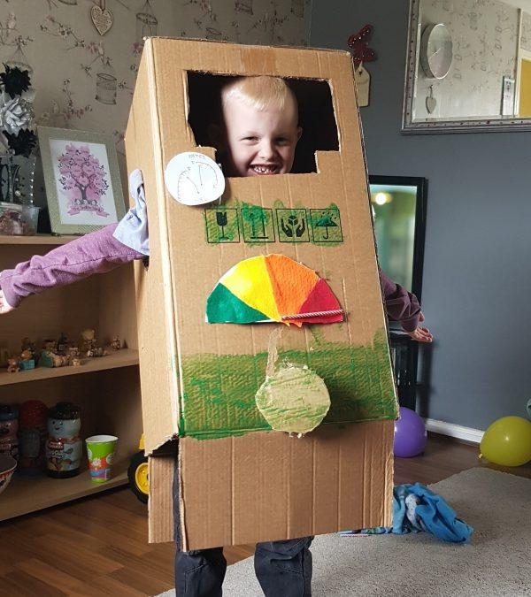Sunday Snap 5th May 2019 Making a cardboard box Bob robot