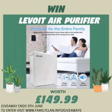 Win a Levoit HEPA Air Purifier Giveaway Family Clan